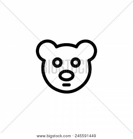 Teddy Bear Vector Icon On White Background. Teddy Bear Modern Icon For Graphic And Web Design. Teddy