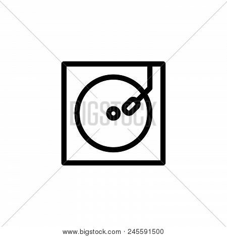 Vinyl Player Vector Icon On White Background. Vinyl Player Modern Icon For Graphic And Web Design. V