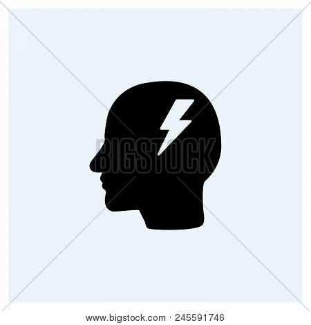 Head Idea Icon Vector Icon On White Background. Head Idea Icon Modern Icon For Graphic And Web Desig