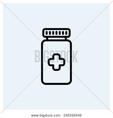 Medicine Icon Vector Icon On White Background. Medicine Icon Modern Icon For Graphic And Web Design.