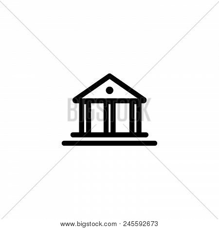 Government Building Vector Icon On White Background. Government Building Modern Icon For Graphic And