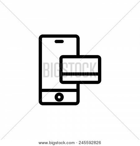 Mobile Payment Vector Icon On White Background. Mobile Payment Modern Icon For Graphic And Web Desig