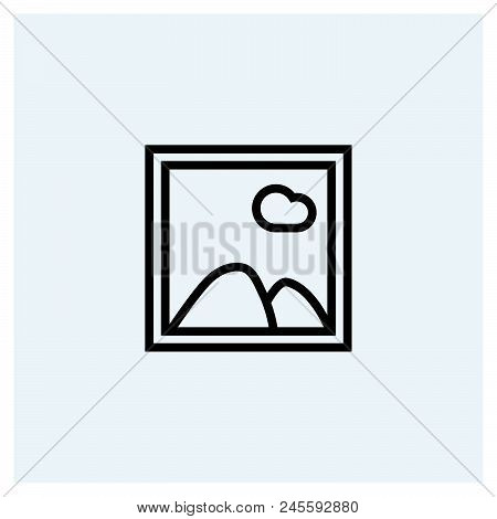 Photo Icon Vector Icon On White Background. Photo Icon Modern Icon For Graphic And Web Design. Photo
