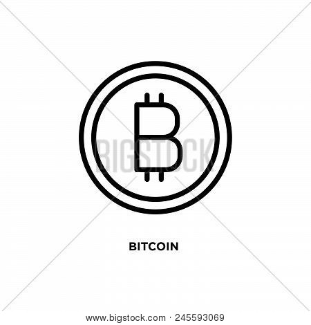 Bitcoin Vector Icon On White Background. Bitcoin Modern Icon For Graphic And Web Design. Bitcoin Ico