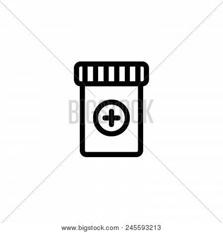Medicine Vector Icon On White Background. Medicine Modern Icon For Graphic And Web Design. Medicine