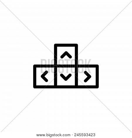 Keyboard Vector Icon On White Background. Keyboard Modern Icon For Graphic And Web Design. Keyboard
