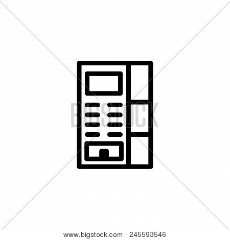 Vending Machine Vector Icon On White Background. Vending Machine Modern Icon For Graphic And Web Des