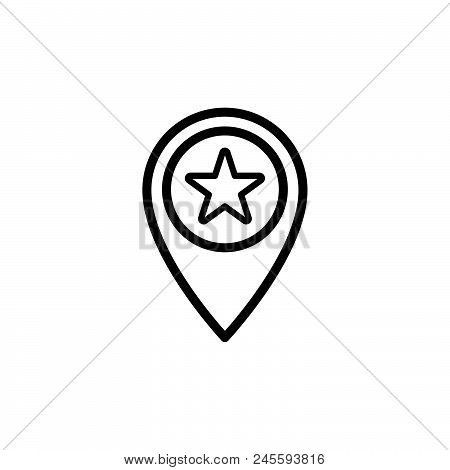 Favorite Place Vector Icon On White Background. Favorite Place Modern Icon For Graphic And Web Desig