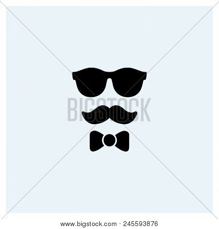 Hipster Icon Vector Icon On White Background. Hipster Icon Modern Icon For Graphic And Web Design. H