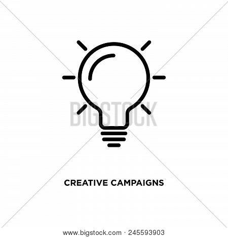 Creative Campaigns Vector Icon On White Background. Creative Campaigns Modern Icon For Graphic And W