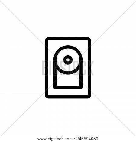 Hard Disc Vector Icon On White Background. Hard Disc Modern Icon For Graphic And Web Design. Hard Di