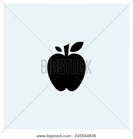 Apple Icon Vector Icon On White Background. Apple Icon Modern Icon For Graphic And Web Design. Apple
