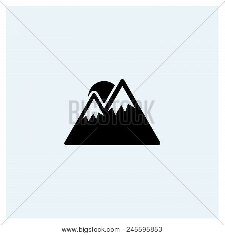 Mountain Icon Vector Icon On White Background. Mountain Icon Modern Icon For Graphic And Web Design.