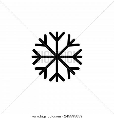 Snow Vector Icon On White Background. Snow Modern Icon For Graphic And Web Design. Snow Icon Sign Fo
