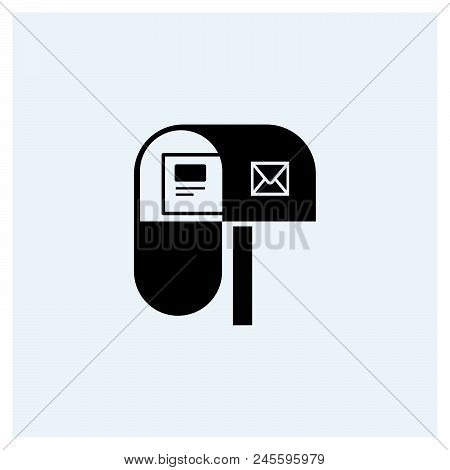 Mail Box Icon Vector Icon On White Background. Mail Box Icon Modern Icon For Graphic And Web Design.