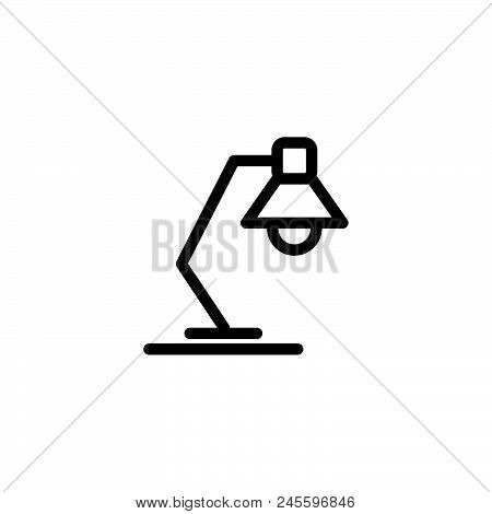 Reading Lamp Vector Icon On White Background. Reading Lamp Modern Icon For Graphic And Web Design. R
