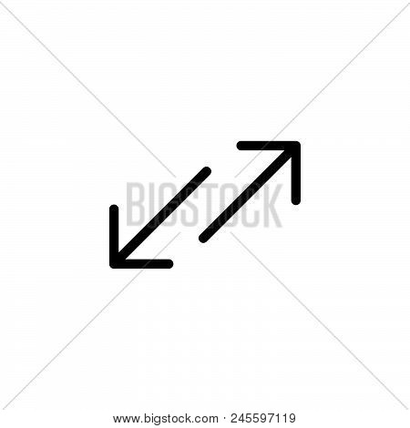 Arrows Vector Icon On White Background. Arrows Modern Icon For Graphic And Web Design. Arrows Icon S
