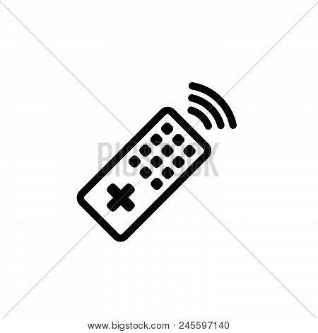 Remote Control Vector Icon On White Background. Remote Control Modern Icon For Graphic And Web Desig