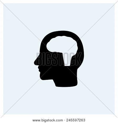 Head Idea Icon Vector Icon On White Background. Head Idea Icon Modern Icon For Graphic And Web Desig
