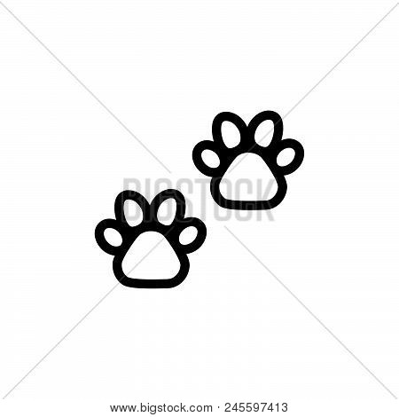 Animal Paw Vector Icon On White Background. Animal Paw Modern Icon For Graphic And Web Design. Anima