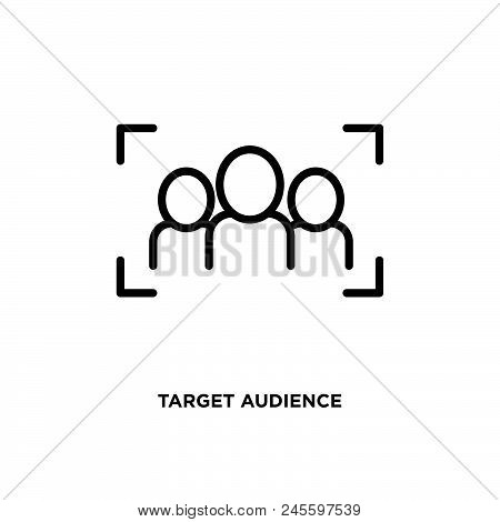 Target Audience Vector Icon On White Background. Target Audience Modern Icon For Graphic And Web Des