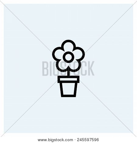Flower Icon Vector Icon On White Background. Flower Icon Modern Icon For Graphic And Web Design. Flo