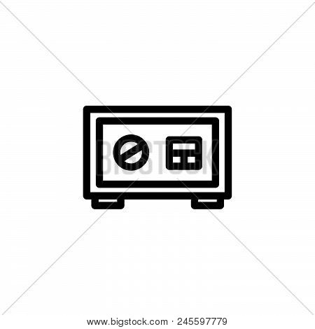 Money Safe Vector Icon On White Background. Money Safe Modern Icon For Graphic And Web Design. Money