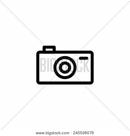 Pocket Camera Vector Icon On White Background. Pocket Camera Modern Icon For Graphic And Web Design.