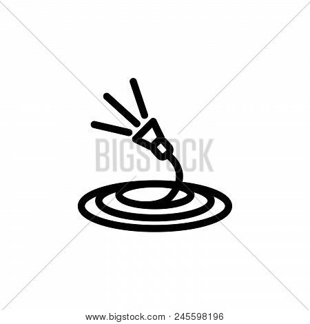 Garden Watering Vector Icon On White Background. Garden Watering Modern Icon For Graphic And Web Des