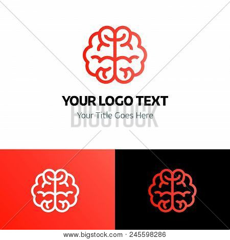 Brain Logo Template Vector Icon On White Background. Brain Logo Template Modern Icon For Graphic And