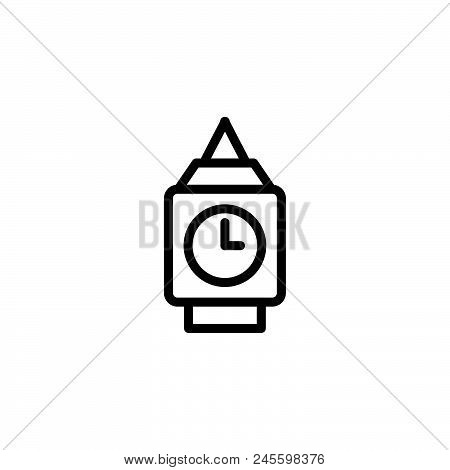 Big Ben Vector Icon On White Background. Big Ben Modern Icon For Graphic And Web Design. Big Ben Ico