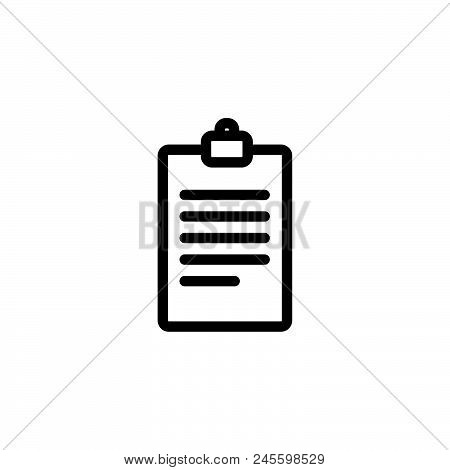 Text Note Vector Icon On White Background. Text Note Modern Icon For Graphic And Web Design. Text No