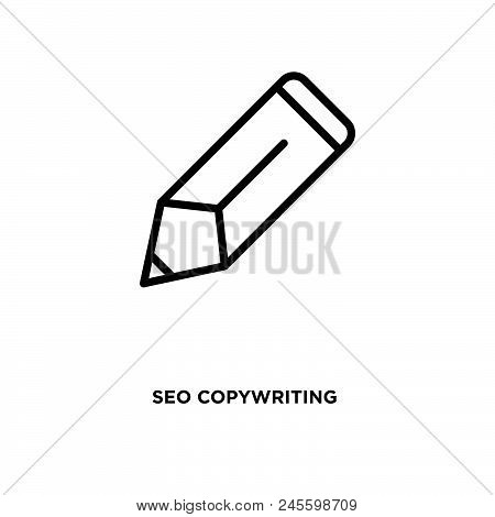 Seo Copywriting Vector Icon On White Background. Seo Copywriting Modern Icon For Graphic And Web Des