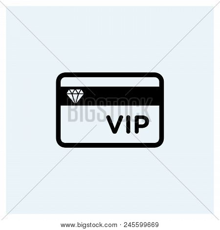 Vip Card Icon Vector Icon On White Background. Vip Card Icon Modern Icon For Graphic And Web Design.
