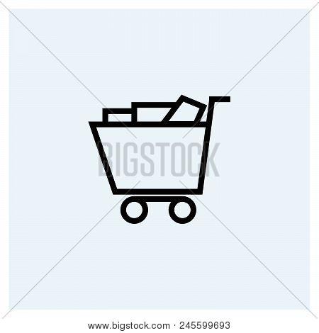 Shopping Cart Icon Vector Icon On White Background. Shopping Cart Icon Modern Icon For Graphic And W