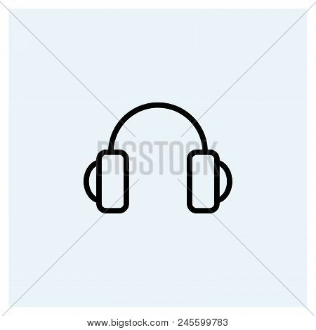 Headphones Icon Vector Icon On White Background. Headphones Icon Modern Icon For Graphic And Web Des