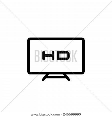 Hd Display Vector Icon On White Background. Hd Display Modern Icon For Graphic And Web Design. Hd Di