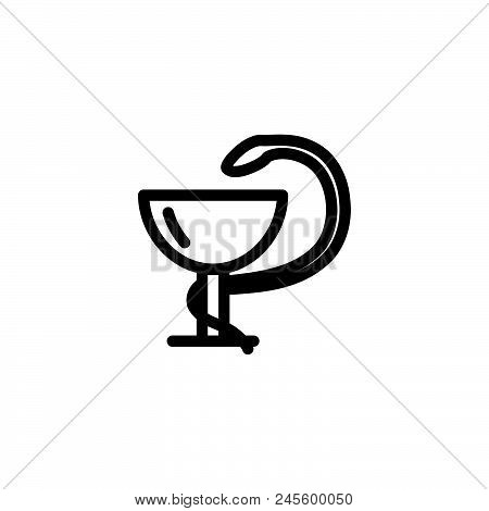 Medical Snake Vector Icon On White Background. Medical Snake Modern Icon For Graphic And Web Design.