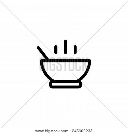 Soup Meal Vector Icon On White Background. Soup Meal Modern Icon For Graphic And Web Design. Soup Me