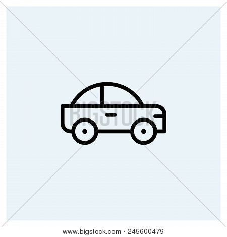 Car Icon Vector Icon On White Background. Car Icon Modern Icon For Graphic And Web Design. Car Icon