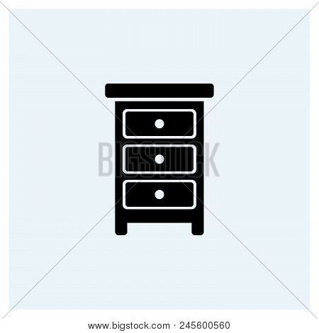 Drawer Icon Vector Icon On White Background. Drawer Icon Modern Icon For Graphic And Web Design. Dra