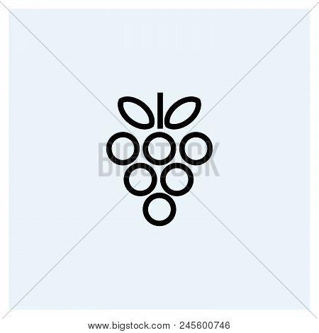 Grape Icon Vector Icon On White Background. Grape Icon Modern Icon For Graphic And Web Design. Grape
