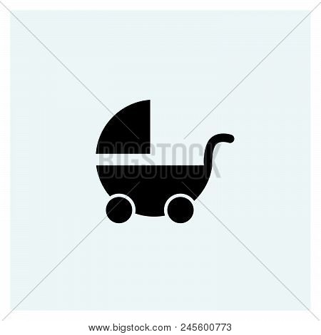 Pram Icon Vector Icon On White Background. Pram Icon Modern Icon For Graphic And Web Design. Pram Ic