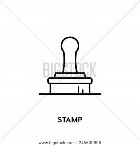 Stamp Vector Icon Vector Icon On White Background. Stamp Vector Icon Modern Icon For Graphic And Web
