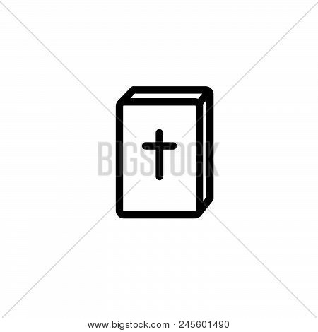 Bible Vector Icon On White Background. Bible Modern Icon For Graphic And Web Design. Bible Icon Sign