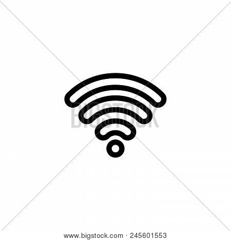 Wireless Network Vector Icon On White Background. Wireless Network Modern Icon For Graphic And Web D