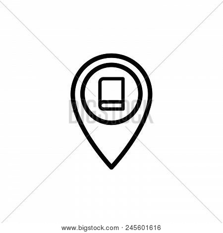Library Location Vector Icon On White Background. Library Location Modern Icon For Graphic And Web D
