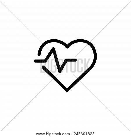 Heart Rate Vector Icon On White Background. Heart Rate Modern Icon For Graphic And Web Design. Heart