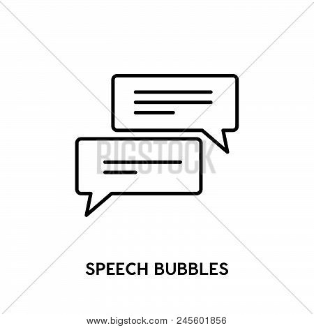 Speech Bubbles Vector Icon.  Speech Bubble Modern Icon For Graphic And Web Design. Speech Bubble Ico