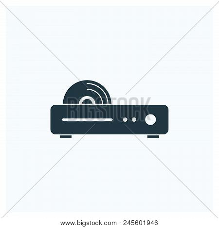Dvd Player Icon Vector Icon On White Background. Dvd Player Icon Modern Icon For Graphic And Web Des